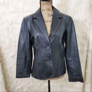 Petite Sophisticate genuine leather jacket/blazer